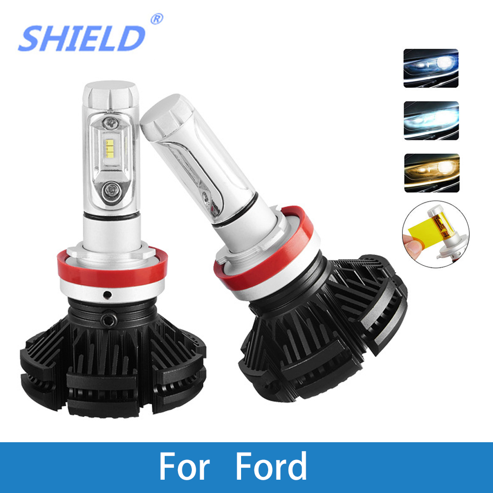 LED Car Headlight Bulb H4 H7 H11 H1 H3 H8 H9 9005 9006 12V 24V 12000LM LED Auto Lamp For Ford Focus Fiesta Ranger Kuga Mondeo