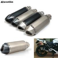 R QIANKONG moto gp db killer muffler escape moto exhaust pipe aluminium alloy accessories for most motorcycle ATV mt09