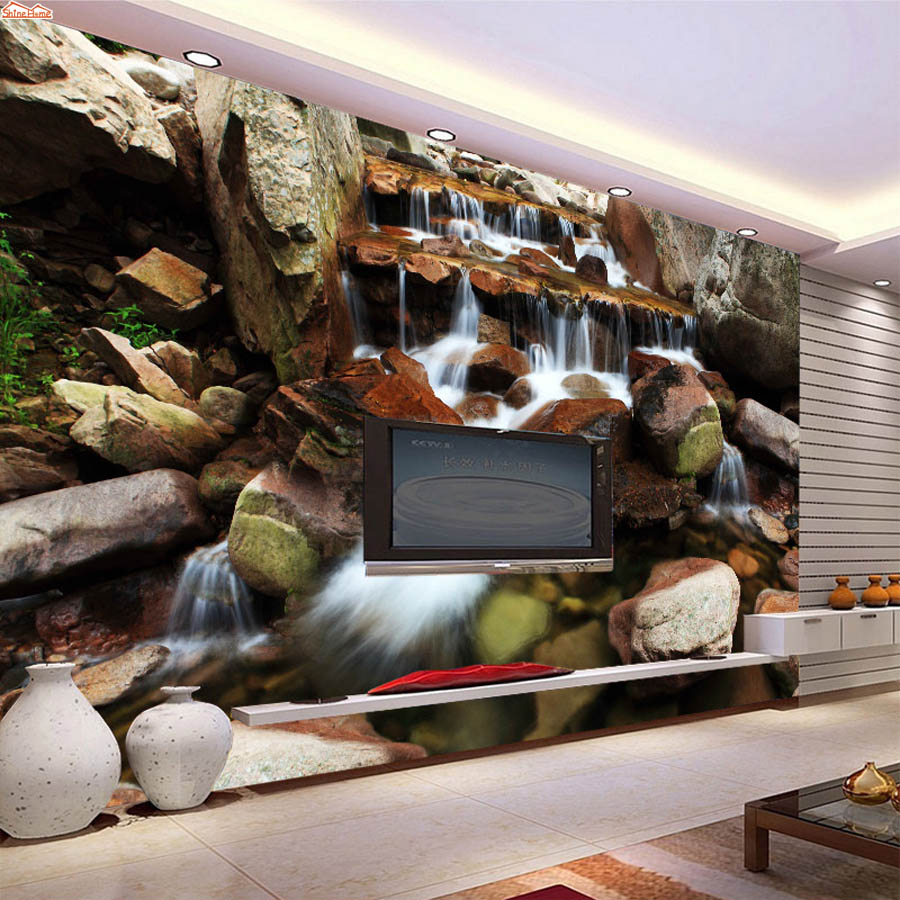 ShineHome-Modern Waterfall Custom Large Wall Paper 3d Wallpapers for Walls 3 d Living Room Background Cafe Wallpaper Mural Rolls shinehome waterfall wallpaper rolls wallpapers 3d kids room wall paper murals for walls 3 d wallpapers for livingroom mural roll