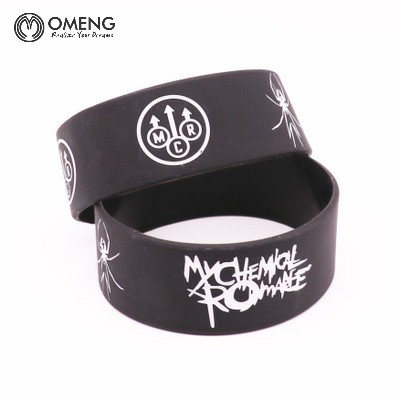 omeng my chemical romance silicone wristband show your support rubber power men bracelet spider punk rock - Support Our Troops Silicone Bracelet