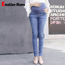 Emotion Moms Elastic Waist Maternity Clothes Boot Cut Maternity Jeans For Pregnant Women Fine pregnancy Pants Maternity trousers