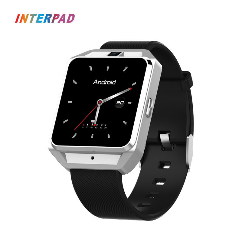 New Interpad Android 6.0 Smart Watch 4G GPS MTK6737 With Sleep Tracker Heart Rate Monitor 5.0MP Smartwatch For iOS Android crcular shape no 1 d5 android 4 4 bluetooth gps smart watch with heart rate monitor google play gps 4g rom 512m ram smartwatch