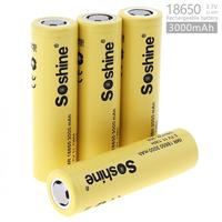 Hot Soshine 4pcs 3000mAh 35A 3.7V 11.1WH IMR 18650 Rechargeable Li ion Battery with Safety Relief Valve + Portable Battery Box