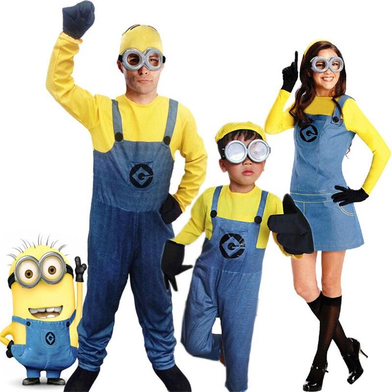 Movie Minion Tutina Bambini Cosplay Bambini Festa di Halloween Super minion Me latte cartone animato per bambini di Età costumi dello spettacolo