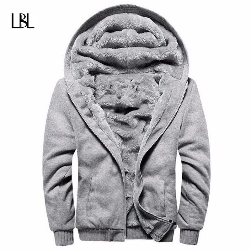 Mens Hoodie Thickening Fleece Jacket Winter New camperas hombre invierno 2018 Designer Famous Brand Male Slim Fit Warm Coat