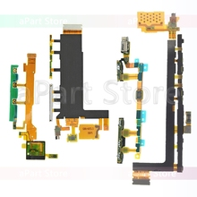 For Sony Xperia Z Z1 Z2 Z3 Z4 Z5 Compact Premium Plus Dock Charging LCD Connector Power Volume Side Key Flex Cable Replacement