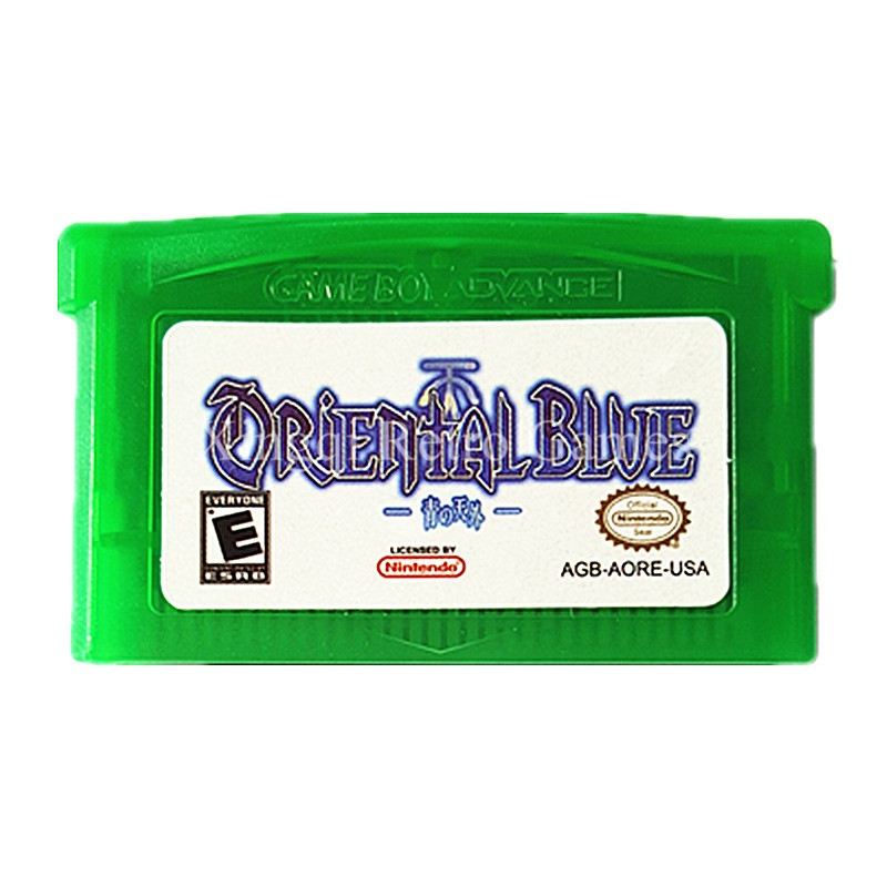 Nintendo GBA Game Oriental Blue Video Game Cartridge Console Card US English Language