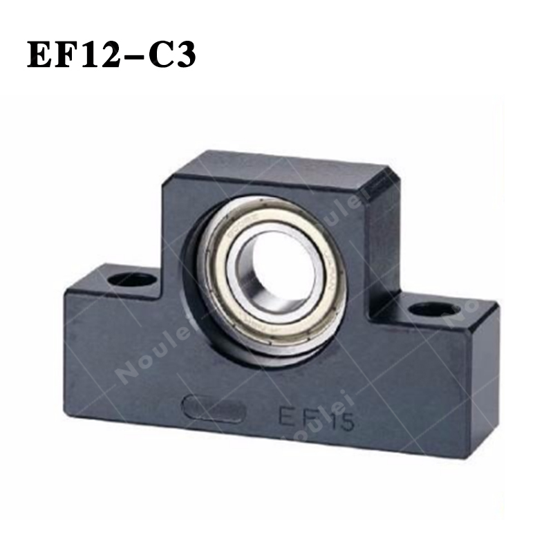 brand EF12-C3 supported-side end Support EF12 for Ball screw end Support 3pairs lot fk25 ff25 ball screw end supports fixed side fk25 and floated side ff25 for screw shaft