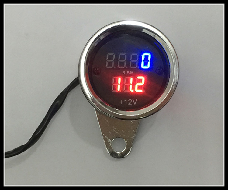 NEW Motorcycle meter Refit digital tachometer lingua electronic tachometer with voltage 50cc-250cclingua