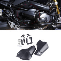 LJBKOALL Motorcycle Dust Injection Engine Cylinder Head Guard Cover Protector Matte Black For BMW R NINET R9T R 9 T 2013 2016