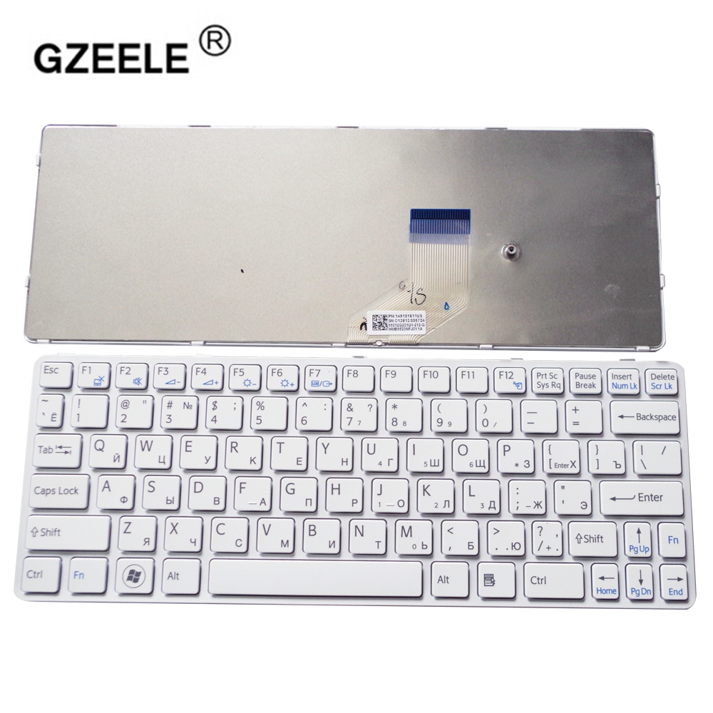 GZEELE russian laptop Keyboard for SONY for VAIO SVE11 SVE111 SVE11113FXB SVE11115EG SVE111 15ELW RU layout for sony vpceh35yc b vpceh35yc p vpceh35yc w laptop keyboard