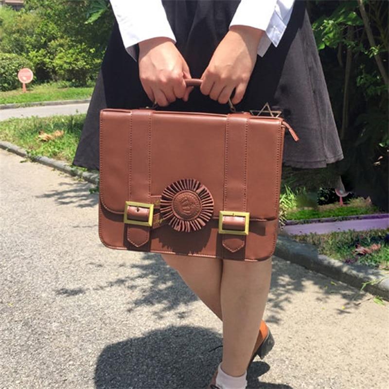 AP Preppy Style angleterre JK uniforme fleur Design sac à dos japonais Lolita filles Vintage Simple epaules sac sacs à main PU Cosplay