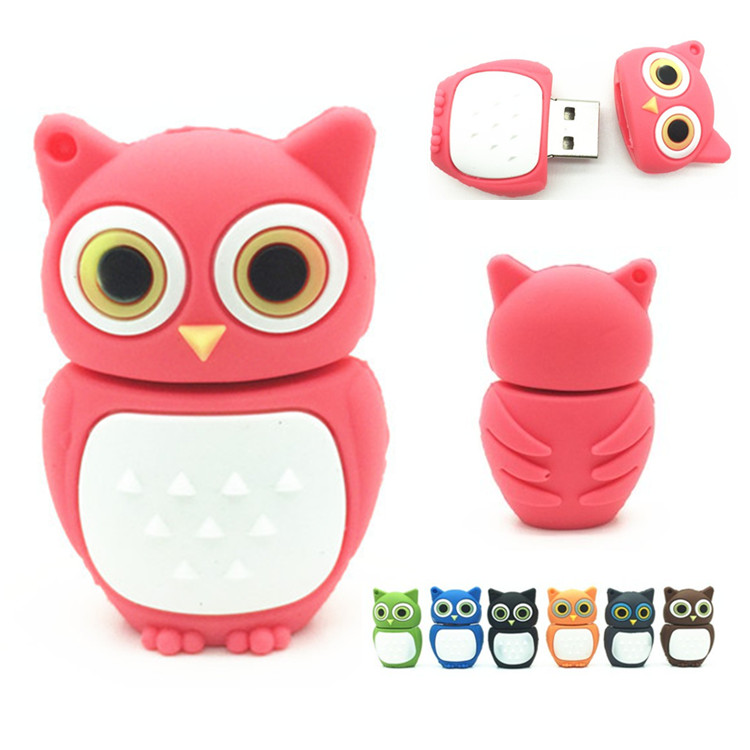 100% Real Capacity Pen Drive Cartoon Owl USB Flash Drive 4gb 8gb 16gb 32gb Flash Drive Disk Memory Stick Beautiful Festival Gift