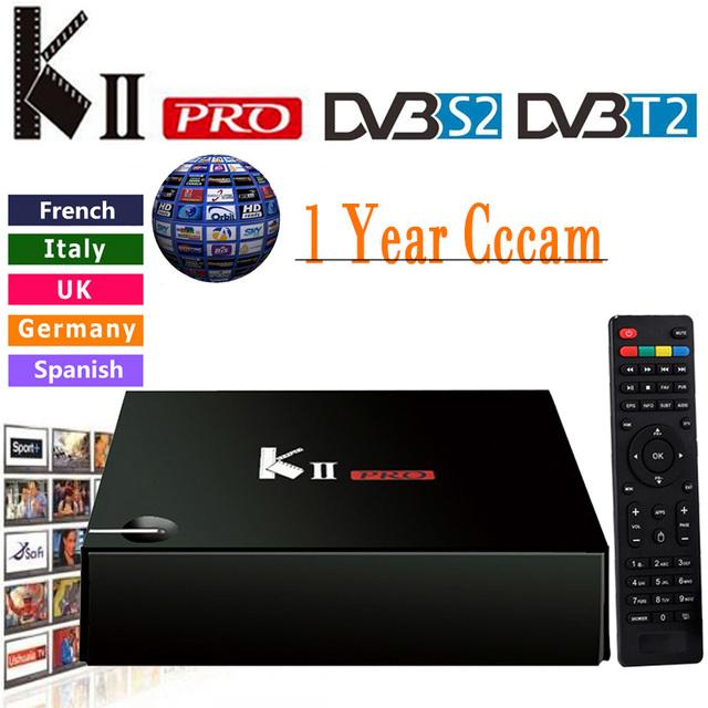 Cccam Cline Para 1 Año KII Pro Android Tv Box DVB-T2 DVB-S2 S905 Amlogic 2 GB/16 GB Android 5.1 Tv Box WiFi BT4.0 HDMI 4 K Jugador