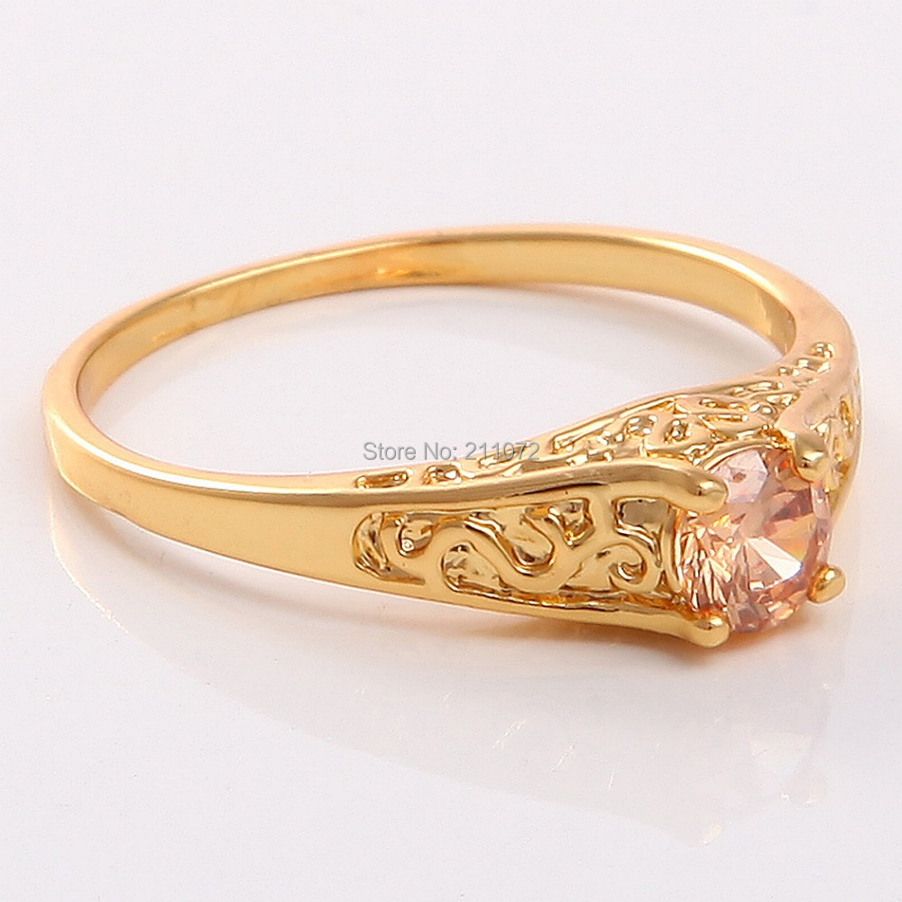 Trendy 14k Yellow Gold Filled Citrine Women Jewelry Wedding Gift