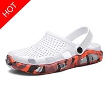 Hole Shoes Male Mens Shoes Crocse Sandals Sandalias Summer Shoes Sandalen Slippers Sandalet hombre S