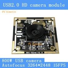 PU`Aimetis Mini Surveillance camera HD 8MP AF Autofocus SONY IMX179 3264*2448 15FPS Audio support USB camera module