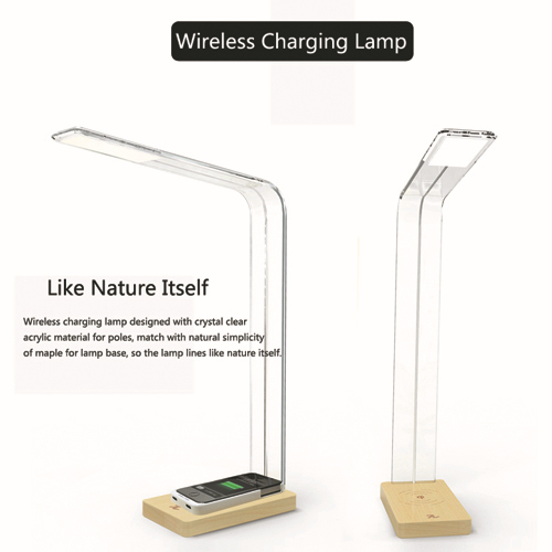 2015 Qi Tendency Wireless Charging Phone LED Desk Lamp U0026 Table Lamp Concise  LED Wood Lamp