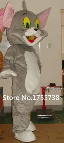 Tom cat dan jerry mouse mascots costume adult size Tom cat and jerry - Kostum karnival - Foto 2