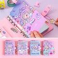 Kawaii DIY programa ligante libreta A6 coreano espiral diario organizador planificador nota libro chicas Fichario viajeros diario Sketcbook