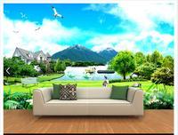 Customized 3d Photo Wallpaper 3d Wall Murals Wallpaper 3D HD Sea View Rock Beach Landscape Background