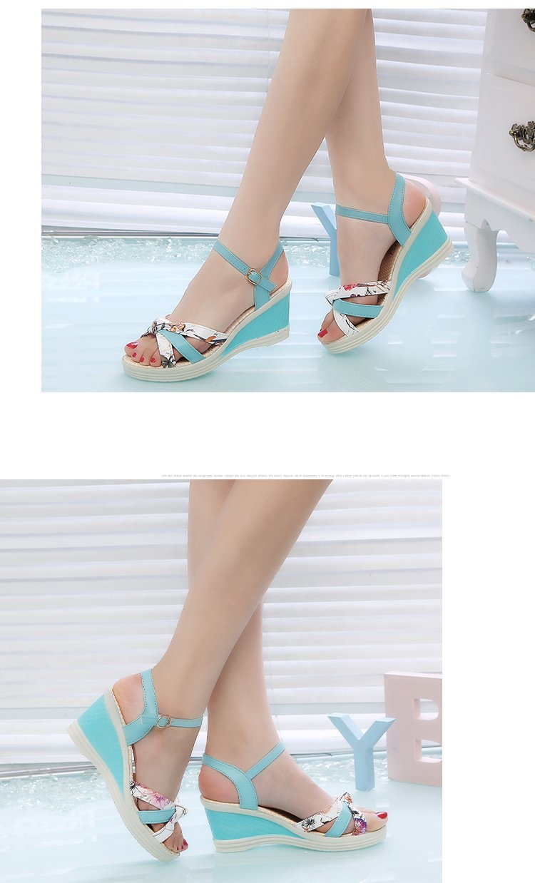 HTB1PesMbiLrK1Rjy1zdq6ynnpXaP New Summer Fashion Women Sandals Ladies High Heel Platform Open Toes Women Sandals Shoes Women's Platfroms Casual Wedges Sandals