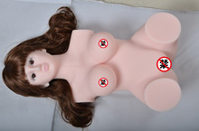 ML25 pink color best quality silicon torso sex dolls with heads wigs eyes, 3d love dolls, sex toys dolls for men