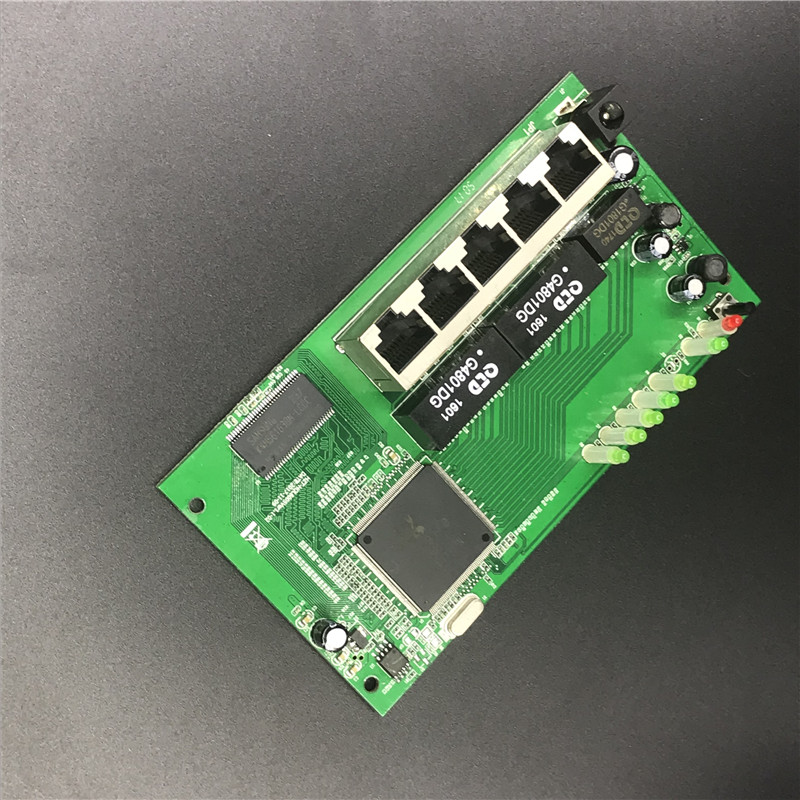5 port Gigabit router module 10/100/1000M distribution box 5-port mini router modules OEM wired router module PCBA with RJ45 4