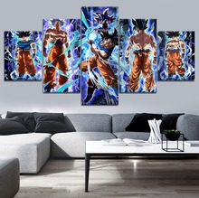 New 5 Piece Canvas Art Dragon Ball Super Home Decorative Wall Modern Picture HD Print Anime Goku Painting Framework Poster