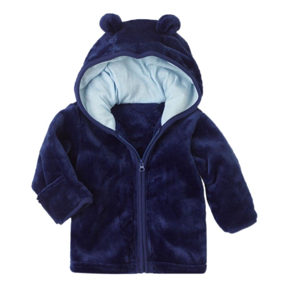 2018 Baby Jungen Mädchen Mantel Winter Herbst Warme Jacke Dicken Korallen Mode Fleece Langarm Ohr Mit Kapuze Jacke Infant Zipper Mantel