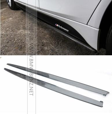 P Style F30 Carbon Fiber Side Skirt Extensions for BMW F30 3 Series Sedan 320i 328i 335i 320d 328d with M Package 12-17