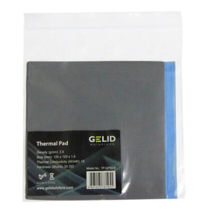 GELID Heat Dissipation Thermal Pad Notebook Thermal Grease Gpu Card North South Bridge Cooling12W/mk 120x120mm 0.5mm/1.0mm/1.5mm