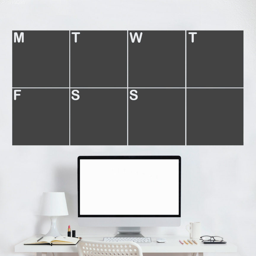 ⓪Weekly Calenarr - Erasable and Removable Chalkboard Wall Decals ...