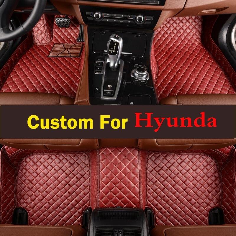 Pretty 2017 High End Material Car Floor Mat Interior Protection Carpet Mat For Hyundai Tucson Elantra Veloster Santa Santafe