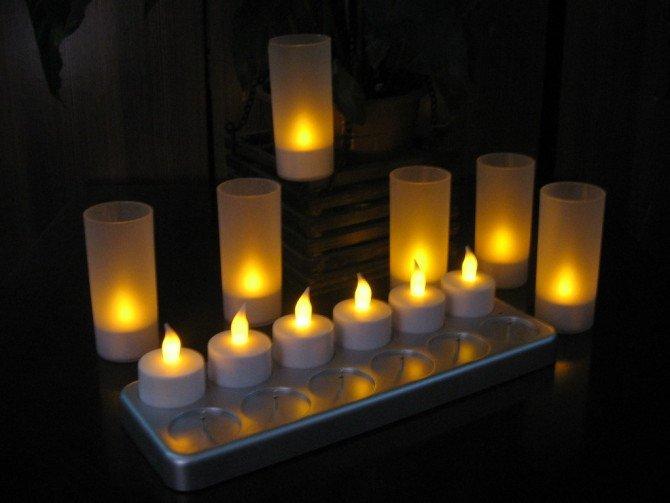 12 pièces LED Rechargeable bougie lumière, bougie électronique, bougie, lumière de décoration pour l'expédition sans parti différent