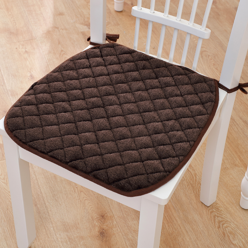 6 Colors Winter Chair Cushions Non-slip Seat Pad With Bandage Office Chair Cushion Throw Pillow Home Decoration Chair Cushion