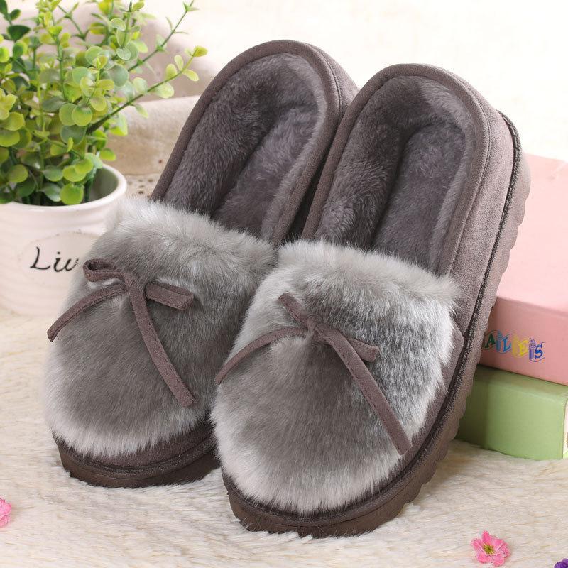 Women Winter Home Furry Slippers Female Knit-not House Flat Fuzzy Warm Shoes Ladies Cute Plush Insole Fluffy Fur Slides недорго, оригинальная цена