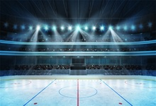 Laeacco Hockey Stadium Fans Crowd Empty Ice Rink Photography Backgrounds Customized Photographic Backdrops For Photo Studio