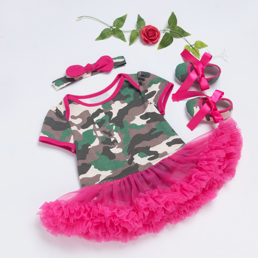 Camouflage-Dress-Infant-Camo-Baby-Rose-Ruffle-Dresses-Cotton-Baby-Girl-clothing-Set-Toddler-Shoes-Headband-Fathers-Day-5