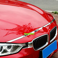 1PCS FRONT HOOD BONNET GRILLE GRILL LIP MOLDING COVER TRIM BAR GARNISH FOR BMW 3 SERIES F30 2012 2013 2014 2015 2016