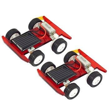 2 pcs Solar Power Mini Racing Car  1