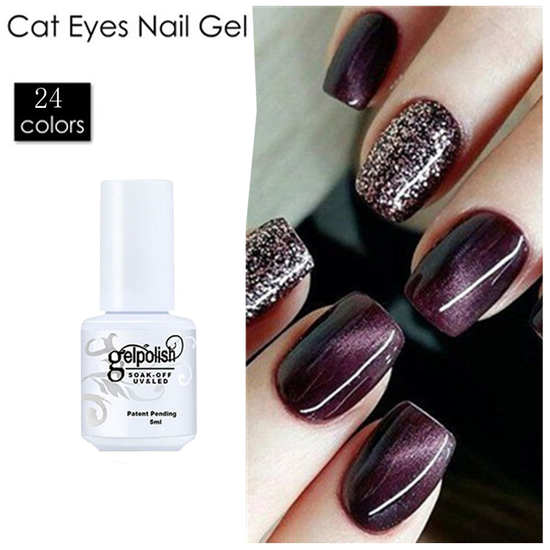 ᐃ2017 Nail Polish Gel 3D Cat Eyes Gel Nail Polish UV Gel Lacquer ...