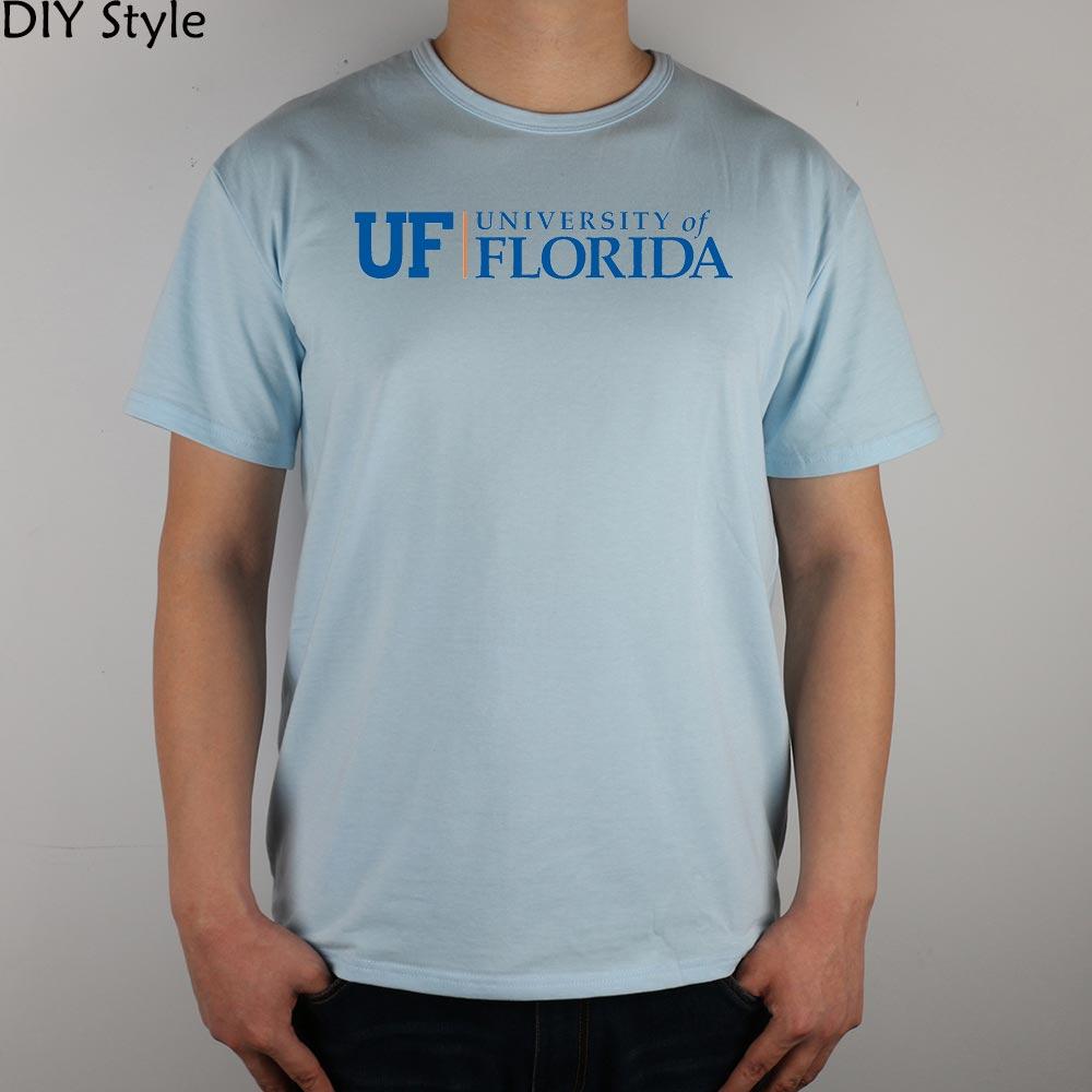 Design t shirt universiti - Uf University Of Florida T Shirt Top Lycra Cotton Men T Shirt New Design High