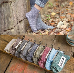Inplusni женские носки Национальный Ветер осенние носки без пятки для мужчин Harajuku ретро Хлопковые вязаные носки толстые линии женские носки 5