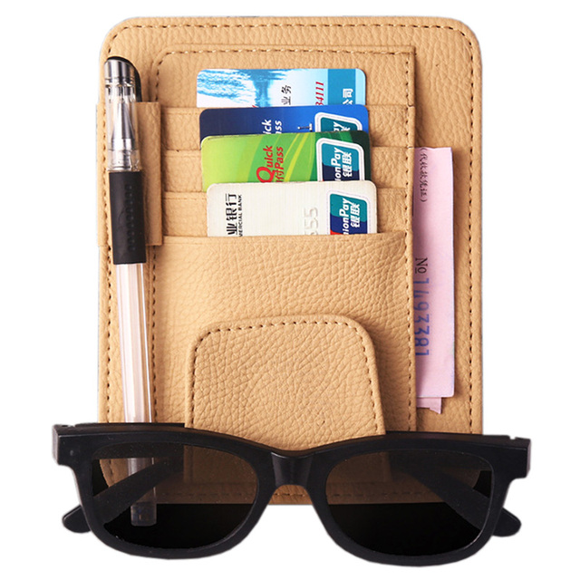New Auto Car Sun Visor Clip for Sun Glasses Sunglasses Credit Card Pen Holder Clip Multi function Storage Bag Fastener Clip Mat
