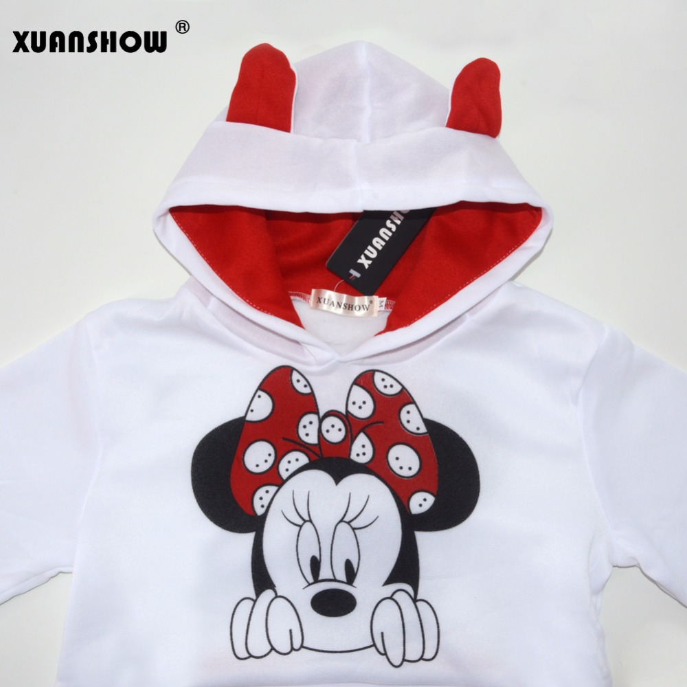 XUANSHOW Women Set Casual Sportswear Cute Ear Cartoon Mouse Printed With Hooded long-sleeved Suit Tenue Tracksuit  Femme HTB1PetzX93PL1JjSZPcq6AQgpXam