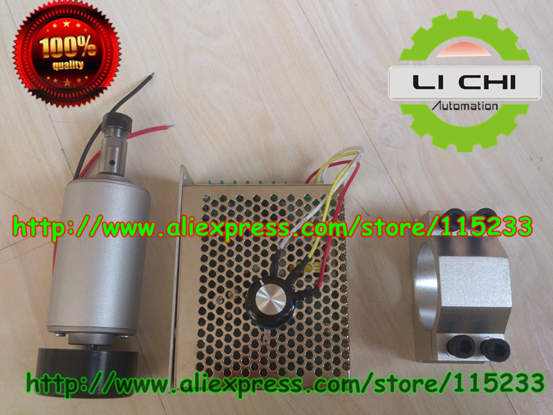 Best price Free 1Pcs ER11 chuck &DC12-48 CNC 300W Spindle Motor &Mount Bracket & spindle power 300W For PCB Engraving shop promotions free 1pcs 3 175 1 8 chuck 10pcs dc 12 57 cnc 200w spindle motor mount bracket 12 110vdc for engraving carving