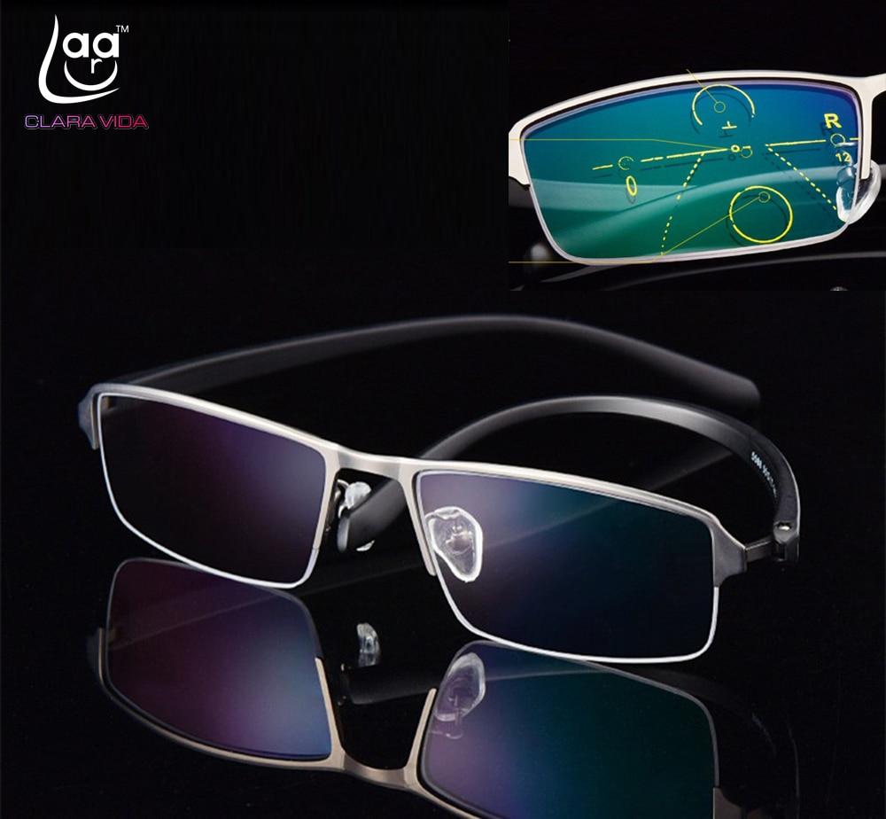 c211d656a VIDA CLARA Photochromic multifocal progressiva anti-blue-ray Comercial  Bifocal Óculos De Leitura + 0.5 + 0.75 + 1 + 1.25 + 1.75TO + 4