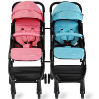 12kg EU High Landscape Twins Strollers Lightly Fold able Stroller Can Be Sitting and lying Double Cell trolley newborn use