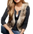 IMC Women Sleeveless Casual Faux Fur Vest Gilet Jacket Coat